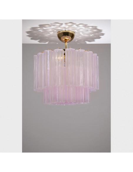Lampe de plafond en verre de Murano, le mod: Étoile Polaire