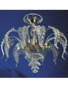 Plafoniera in vetro di Murano modello Elegant