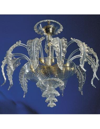Plafonnier en verre de Murano Elegant modele