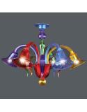 Plafoniera in vetro di Murano modello Marco Polo multicolor