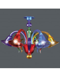 Murano glass ceiling light model Marco Polo multicolor