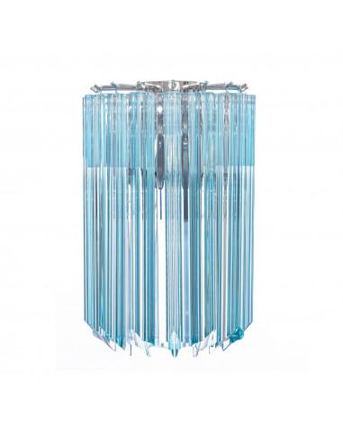 applique con vetri quadriedri azzurri in cristallo di murano